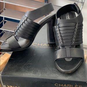 Charles David black heels